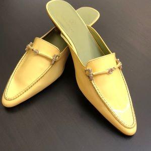 NEW 🌼Cole Haan .. yellow patent kitten heel mule